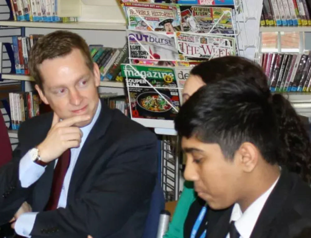 Corby MP quizzed by Wellingborough pupils
